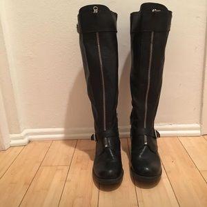 High Moto Front Zipper Ridding Boots